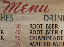 Bobo's menu board