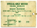 Golf match ticket
