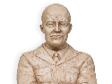 Bust of Eisenhower created by artist Peter Felten