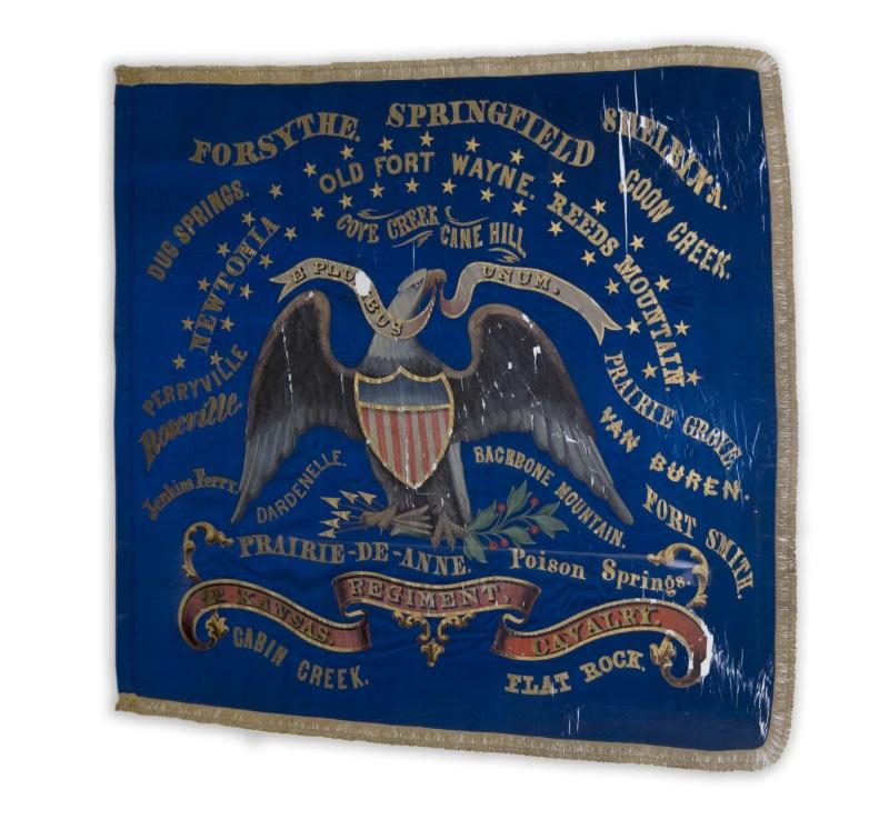 civil war battle flags kansapedia kansas historical