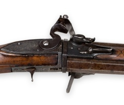 Closeup of flintlock