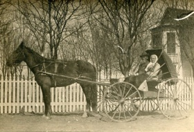 Gus & Mary Bellport outside their LaCrosse home. Photo courtesy of Thomas E. Richardson