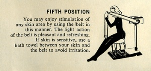Fifth  position recommended for Walton Belt Vibrator