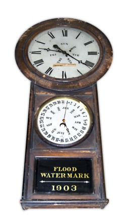 Clock from 1903 flood