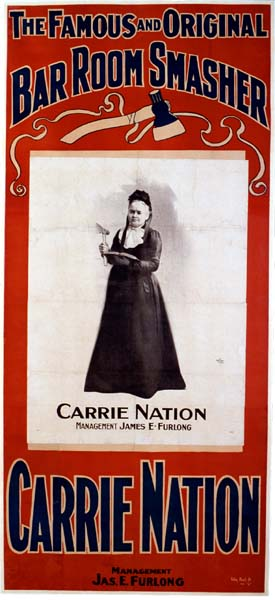 Carry Nation lecture poster