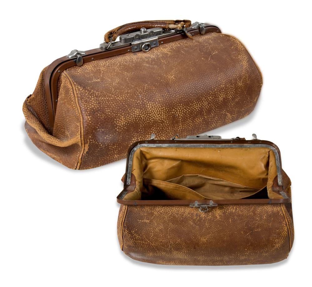 Census taker's  satchel, ca. 1900