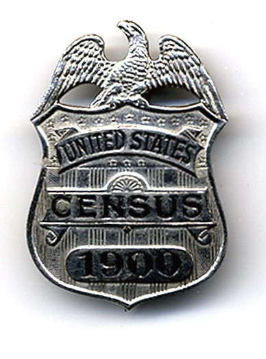 Bissell's census badge, 1900