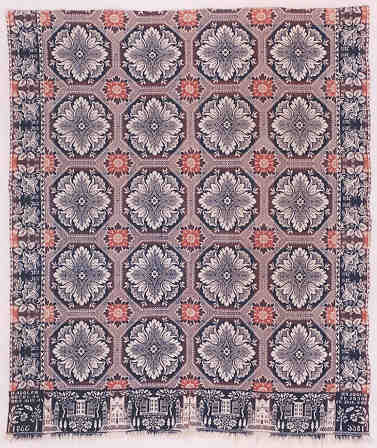 Kansas coverlet woven 
