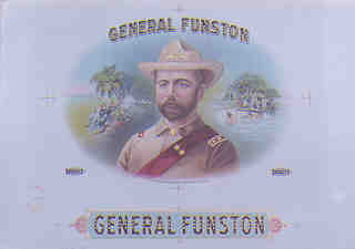 Photo of Funston brand cigar box