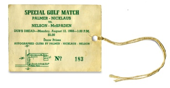Dub's Dread golf match ticket