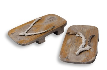 Col. Hughes' prison camp sandals