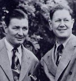 The Gold Dust Twins: Jug McSpaden (left) and Byron Nelson