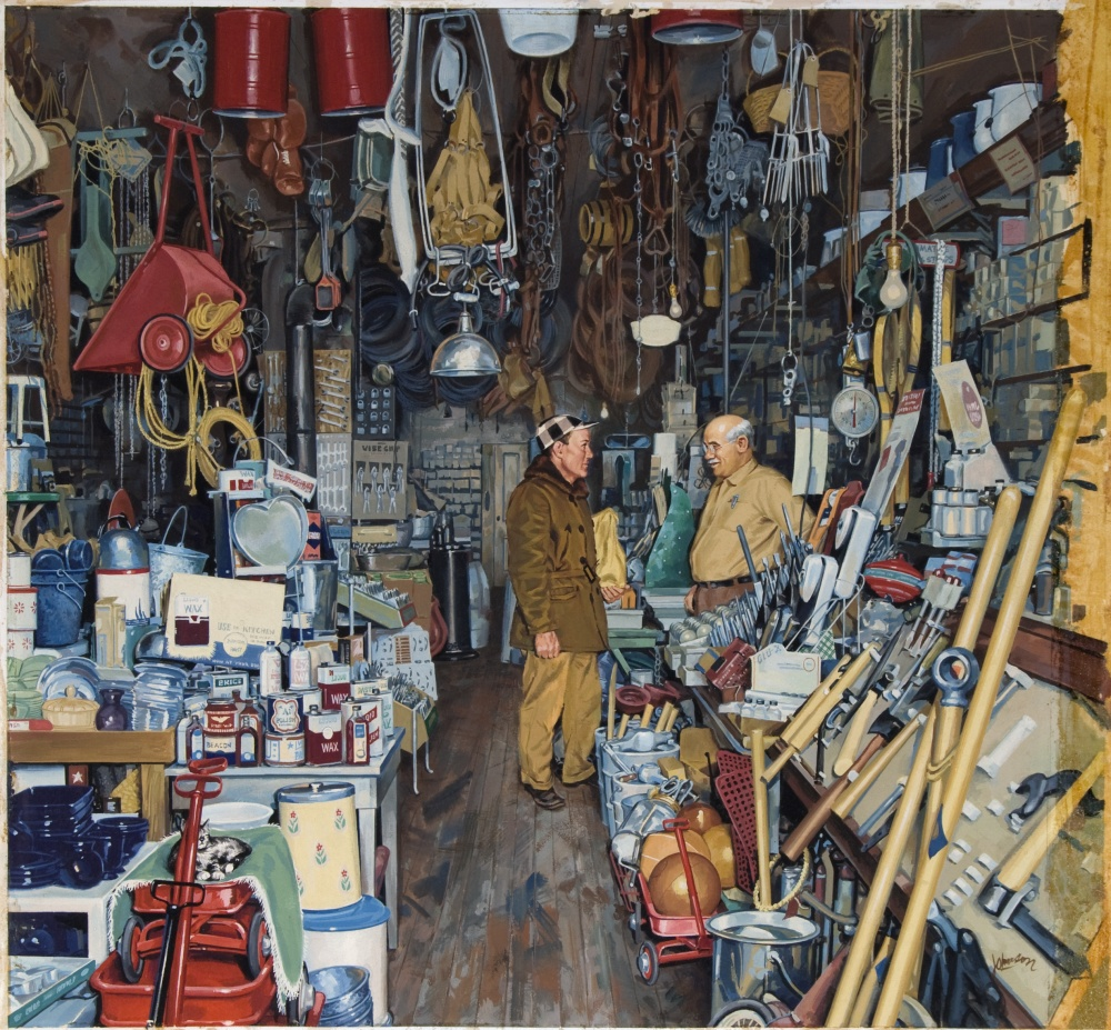 Painting of Alta  Vista hardware store