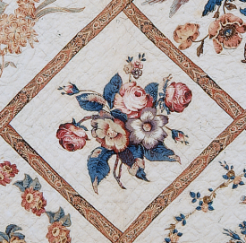 Close-up of quilt block