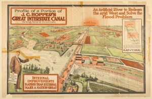 Hopper's Great Interstate Canal poster