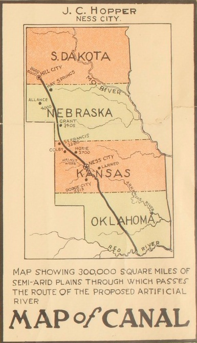 Map of Hopper's proposal interstate canal