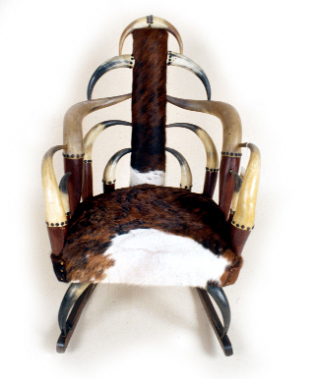 Horn chair made by Charles Calwell