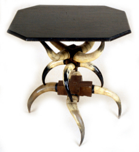Horn table made by Charles Calwell