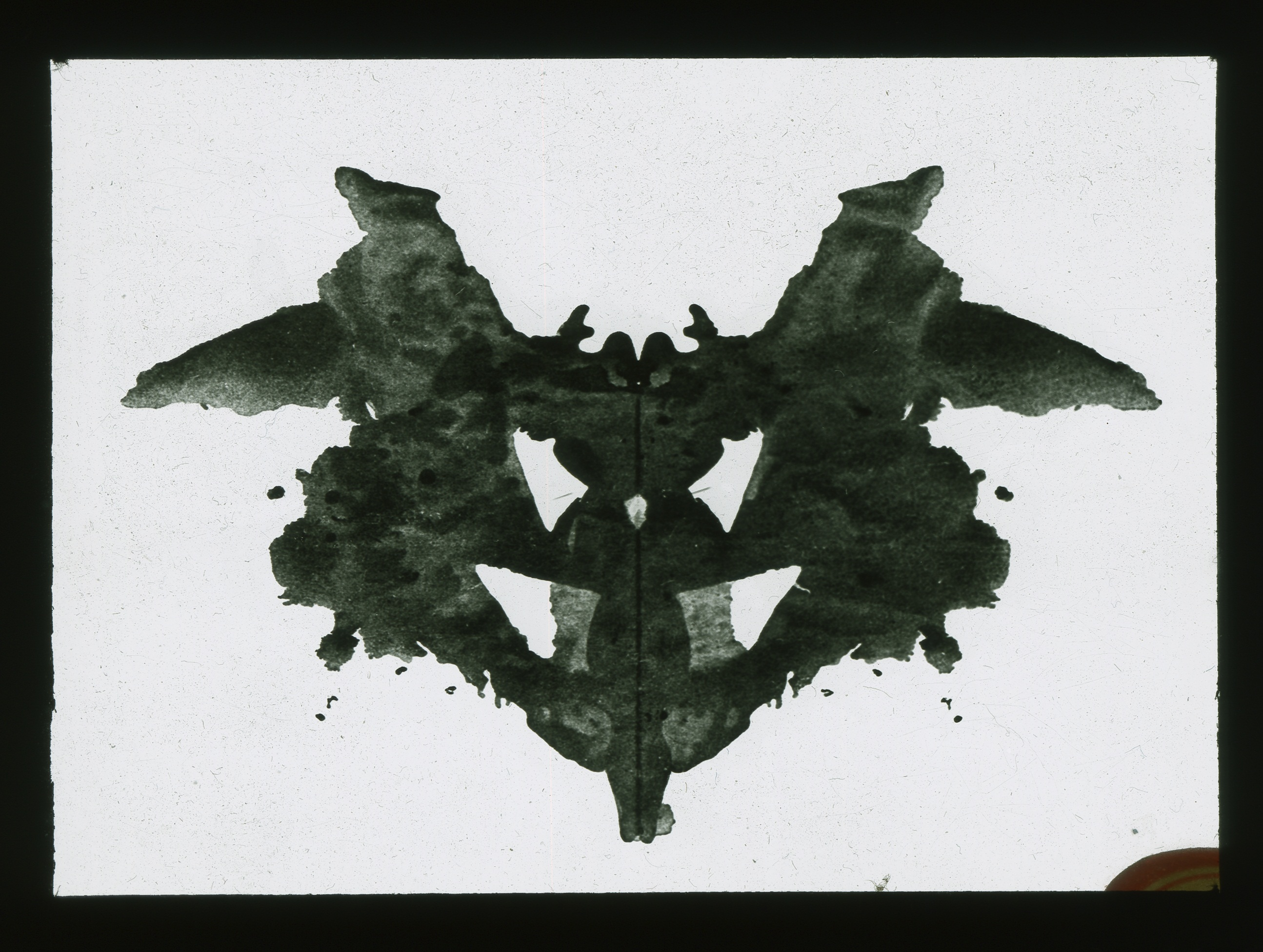 Inkblot test slide
