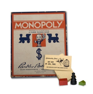 Monopoly board owned by Lois Hunter of Parsons, Kansas