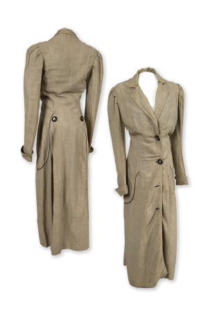 Motoring coat worn by Dora Boeger