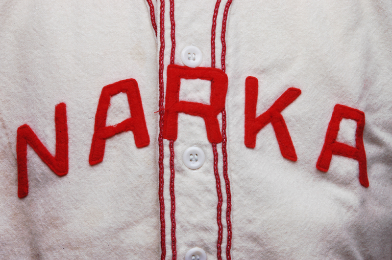 Narka town baseball uniform, 1940s