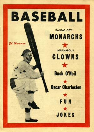 Front of Kansas City Monarchs baseball program