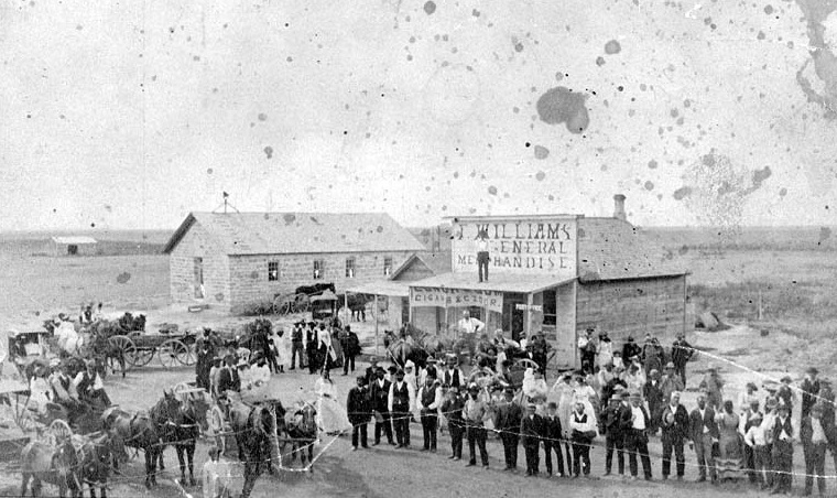 The town of Nicodemus, circa 1885