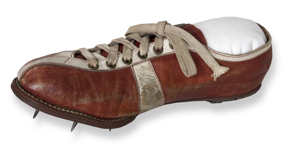 Wes Santee's track shoe from the 1952 Helsinki Olypmics