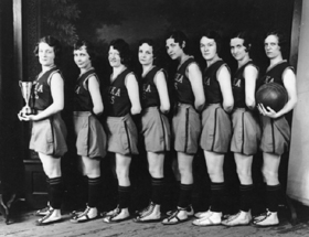 Topeka Aces following their championship win, 1928