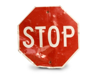 Stop sign from Greensburg tornado