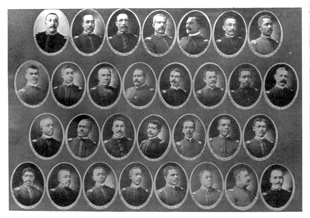 Commissioned officers of the 23rd.  Brown is in the top row, third from right.
