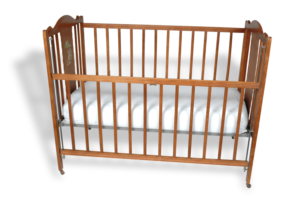 Crib made by Abernathy Brothers, 1930s