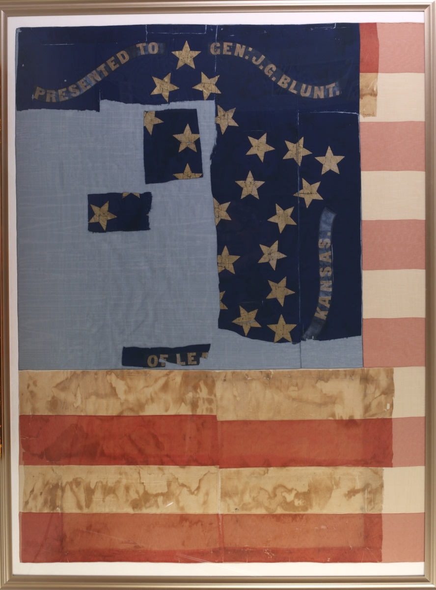 Blunt flag after conservation treatment
