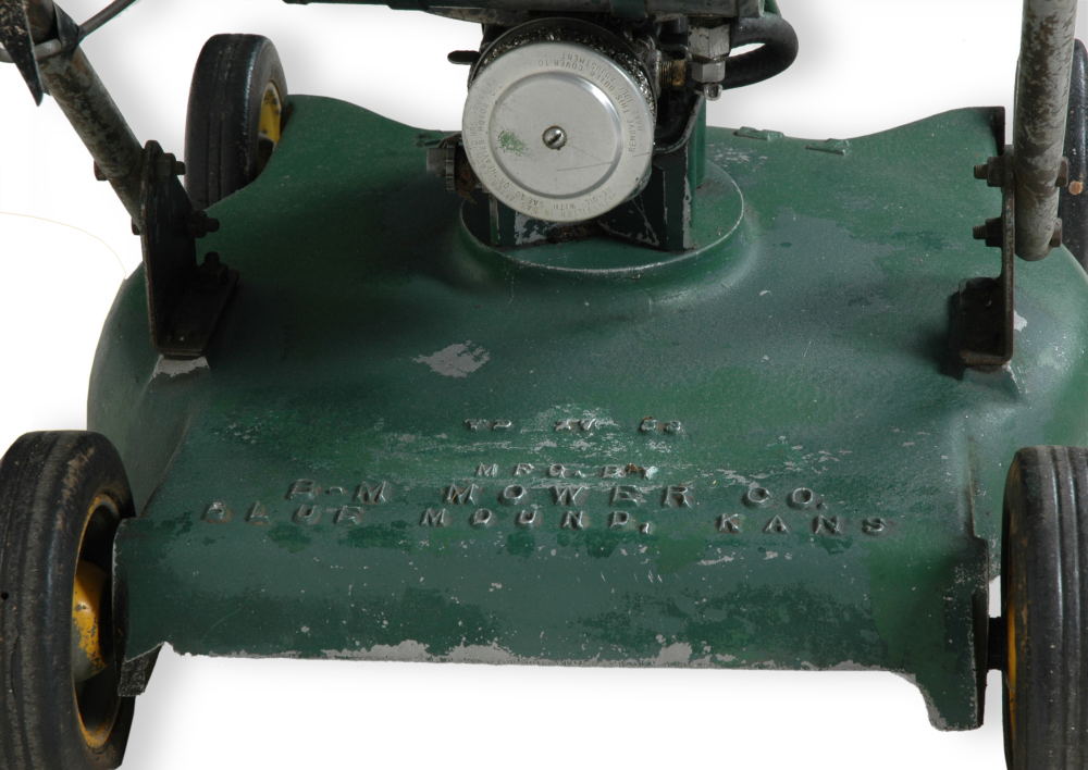 Close-up of B-M mower