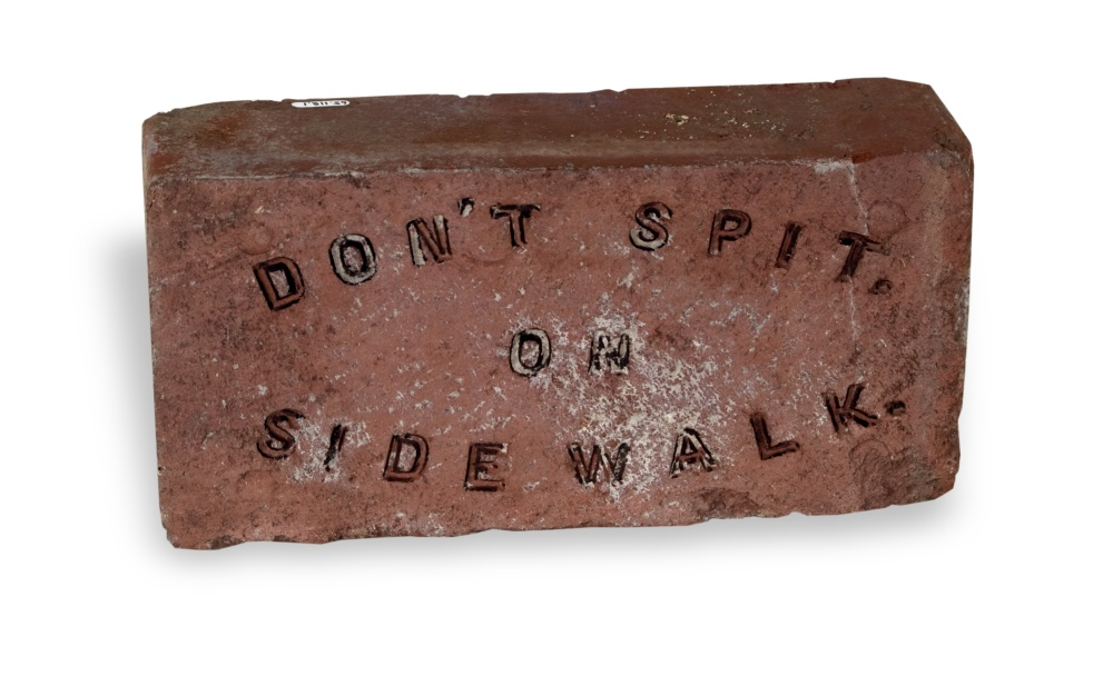 Don't Spit on Sidewalk brick