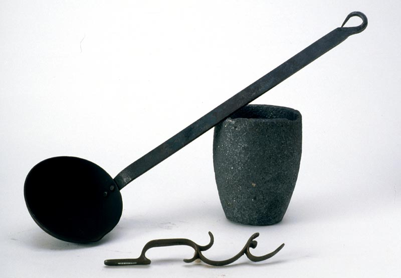 Ladle, crucible, and trigger guard