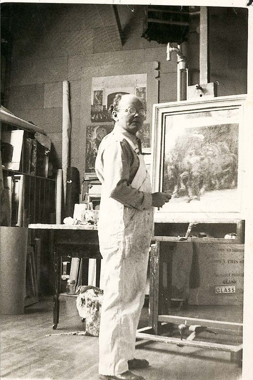 John Steuart Curry in his Wisconsin studio