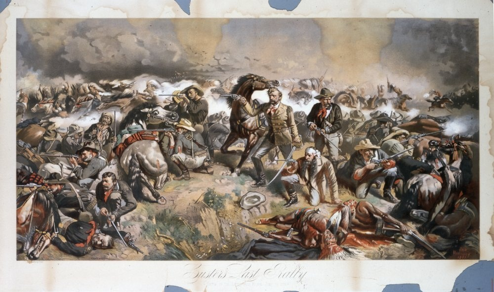 Custer's Last Rally lithography by Mulvany