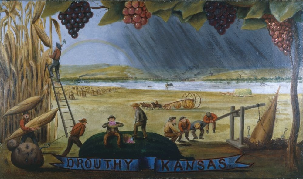 Drouthy Kansas painting by Worrall