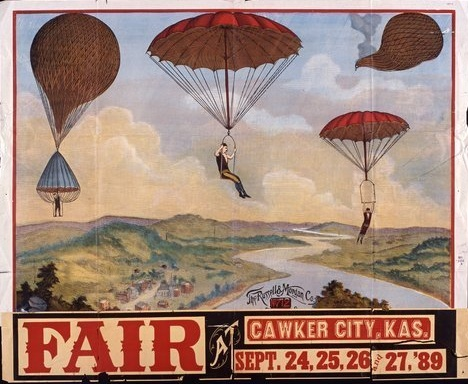 Cawker City fair poster, 1889