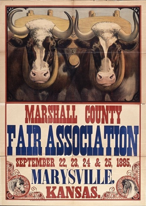 Marshall County  Fair poster, 1885
