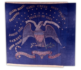 battle flag from First Kansas Colored Infantry