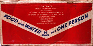 Close-up of food kit label
