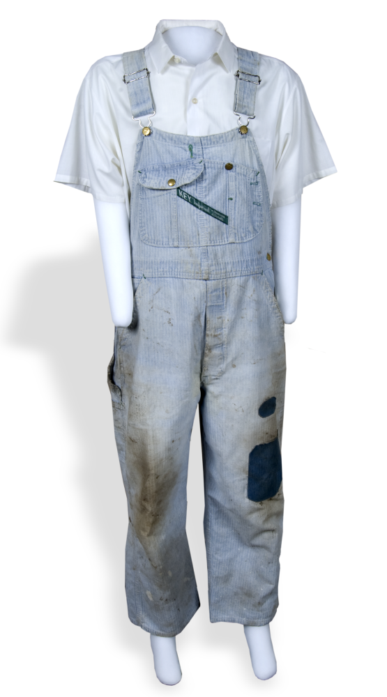 Key overalls, made and worn in Kansas.