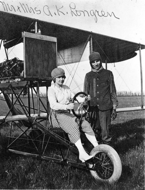 Albin and Dolly Longren with plane #5