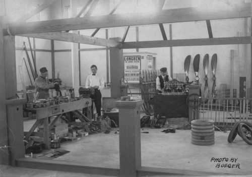 Interior of Longren shop, Topeka, 1910s