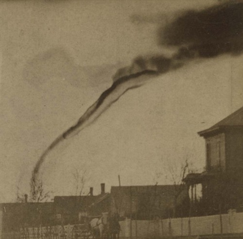 Possibly the earliest tornado photograph, taken in 1884