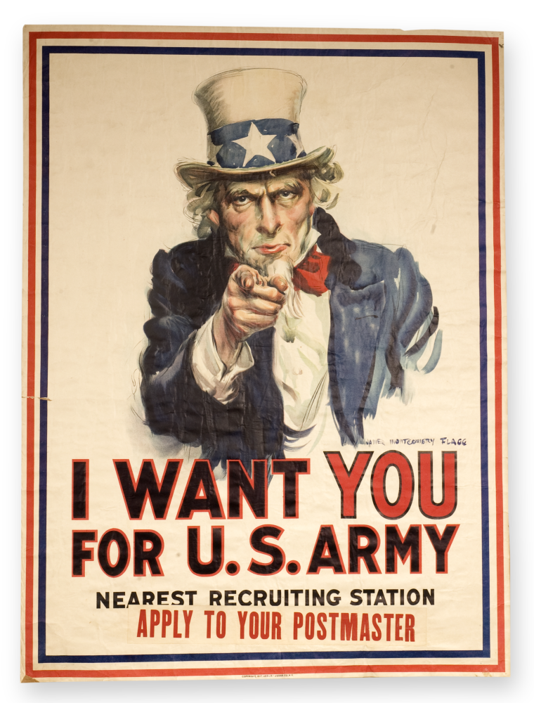 Uncle Sam recruitment poster.