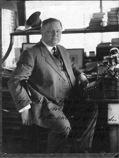 William Allen  White in his Gazette office